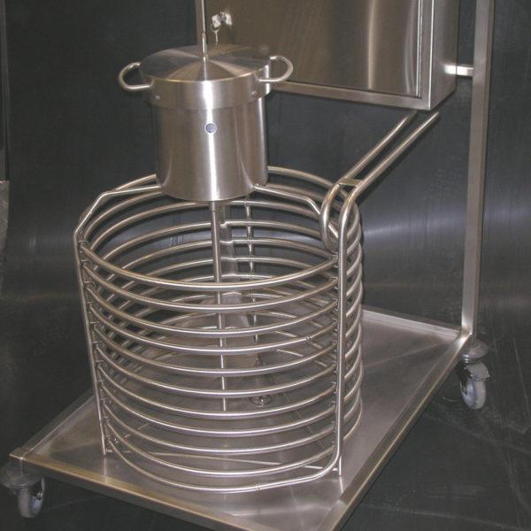 refroidisseur à sauce inox