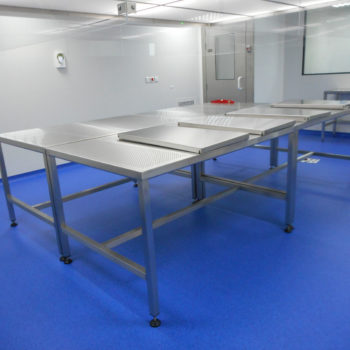 table laboratoire inox