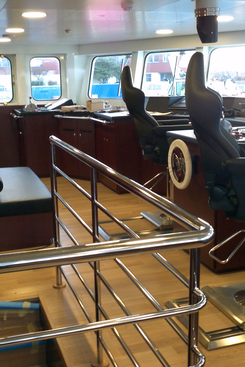 pièces inox pour yachting